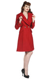Banned Clothing - Red Vintage Coat - Egg n Chips London