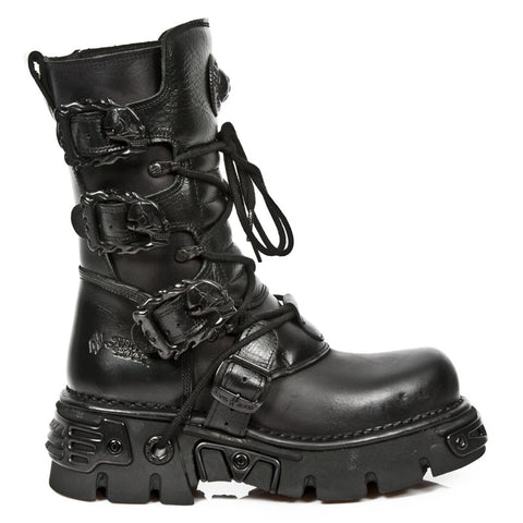 New Rock Shoes - All Black Boots with Reactor Soles