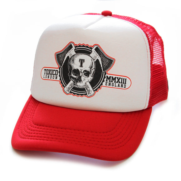 Toxico Clothing - Unisex Axe Skull Trucker Hat - Egg n Chips London