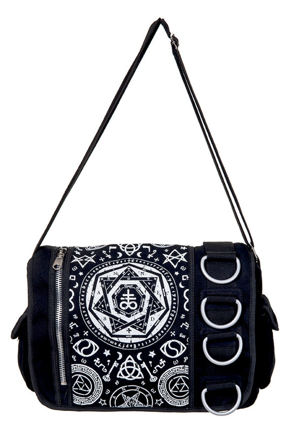 Banned Clothing - Pentagram Black Messenger Bag - Egg n Chips London