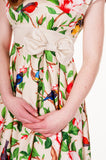 Banned Apparel - Birds Ribbon Beige Dress - Egg n Chips London