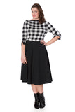 Banned Clothing - Women's Check Knitted Jumper
