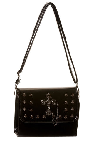 Banned Apparel - Black Cross Studded Handbag