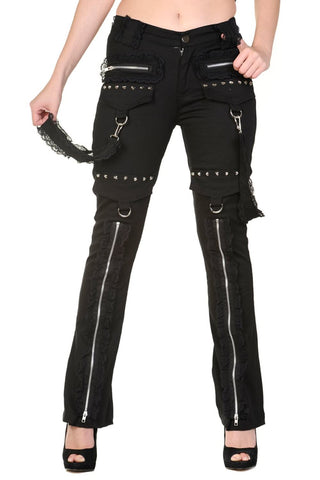 Banned Apparel - Black Lace Trousers