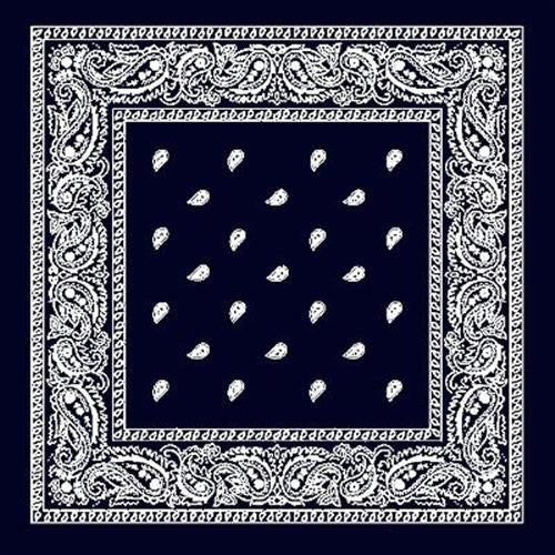 Black and White Paisley Bandana - Egg n Chips London
