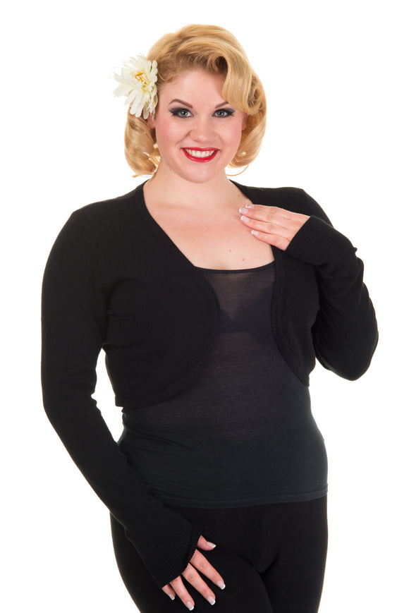 Banned Apparel - Flickers Black Plus Size Bolero - Egg n Chips London