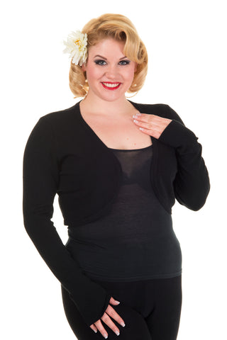 Banned Apparel - Flickers Black Plus Size Bolero