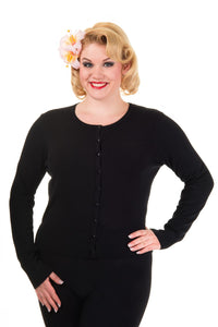 Banned Apparel - Getaway Black Plus Size Cardigan - Egg n Chips London