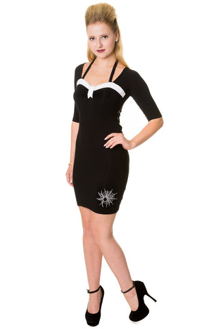 Banned Apparel - Black Spiders Web Pencil Dress