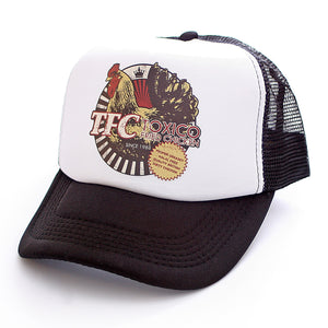 Toxico Clothing - Unisex Black-White TFC Trucker Hat - Egg n Chips London