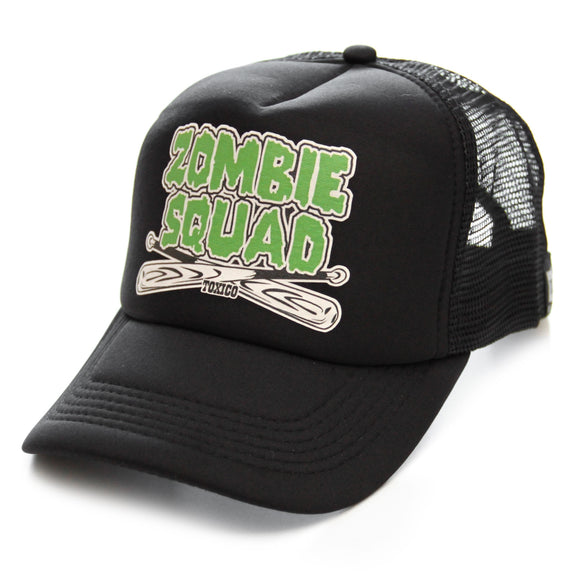 Toxico Clothing - Unisex Black Zombie Squad Trucker Hat - Egg n Chips London