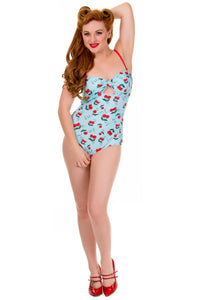 Banned Apparel - Blindside Cherries One Piece Swimsuit - Egg n Chips London