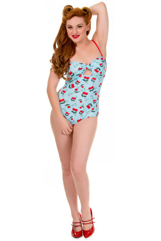 Banned Apparel - Blindside Cherries One Piece Swimsuit