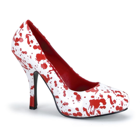 Funtasma - Blood Splattered White Stiletto Heels - Egg n Chips London
