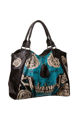 Banned Apparel - Blue Skull Handbag