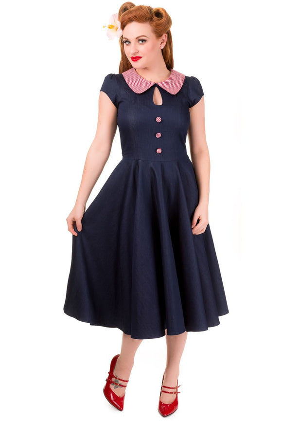 Banned Apparel - Blueberry Hill Dress - Egg n Chips London