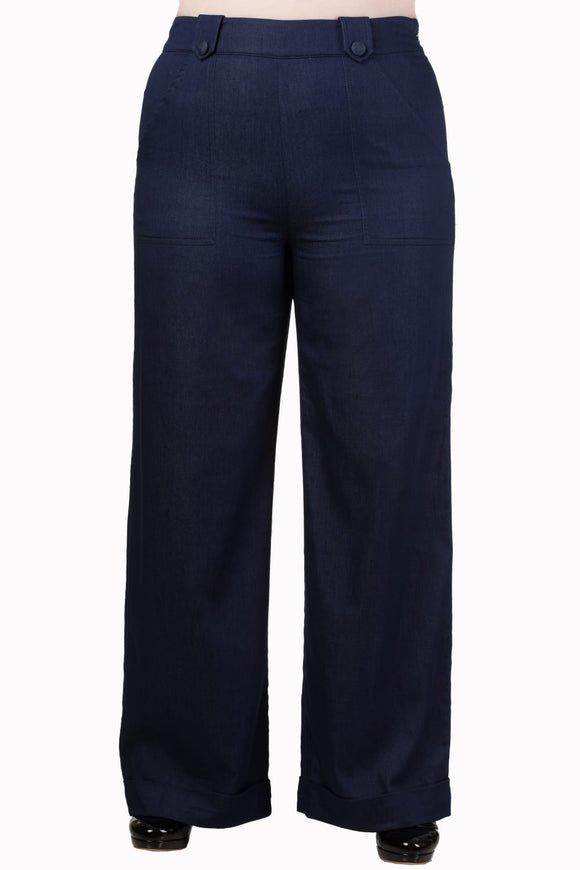 Banned Apparel - Blueberry Hills Flared Trousers - Egg n Chips London