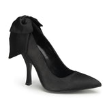 Pin Up Couture - Bombshell Black Satin Heel Pump