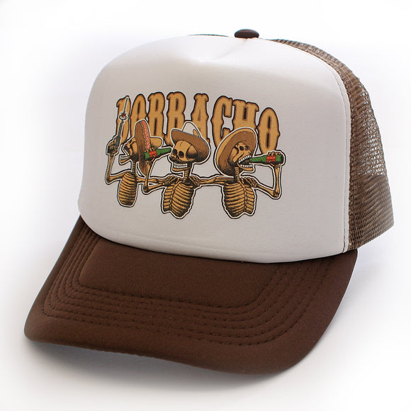 Toxico Clothing - Unisex Borracho SkeleBros Trucker Hat - Egg n Chips London
