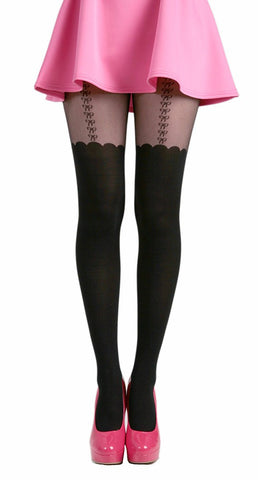 Pamela Mann - Bow Suspender Tights