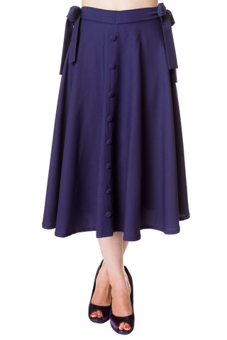 Banned Apparel - Buttons Long Skirt
