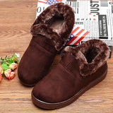 Cotton Fur Lining Keep Warm Soft Flat Shoes Women's Shoes
