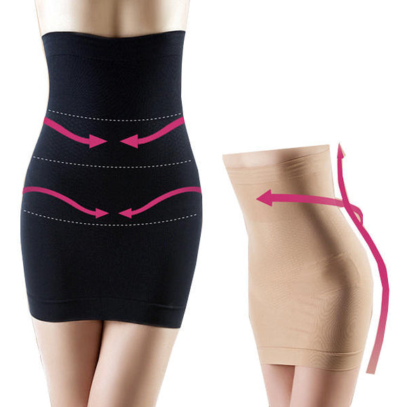 Soft Tummy Gather Waist Slim Antibacterial Stretchy Body Shaping Skirt