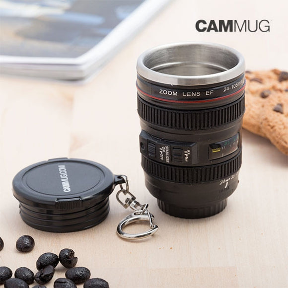 Egg n Chips London - Cammug Mini Lens Keychain Mug - Egg n Chips London