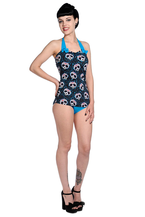 Banned Apparel - Candy Panda Swimsuit - Egg n Chips London