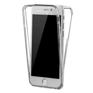 Case iPhone 7 Ref. 191692 TPU Silver Front and Rear