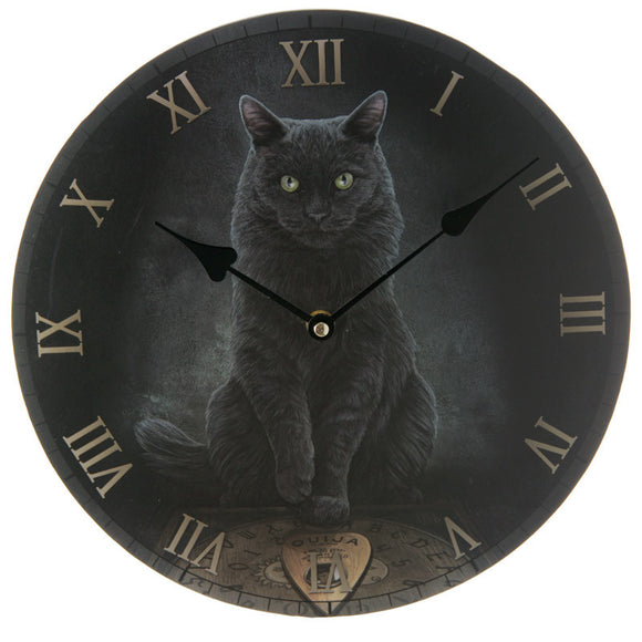 Egg n Chips London - Black Cat and Ouija Board Wall Clock - Egg n Chips London
