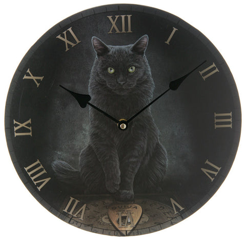 Egg n Chips London - Black Cat and Ouija Board Wall Clock