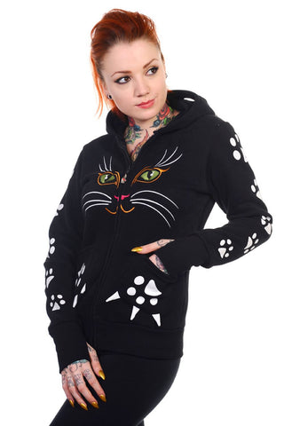 Banned Apparel - Cat Face Hoodie