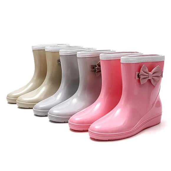Non-Slip Comfortable PVC Rubber Slip-On Ankle Short Rain Boots
