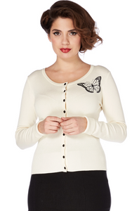 Voodoo Vixen - Cream Chimera Butterfly Cardigan - Egg n Chips London