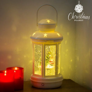 Christmas Planet LED Christmas Lantern With Liquid & Glitter - Egg n Chips London