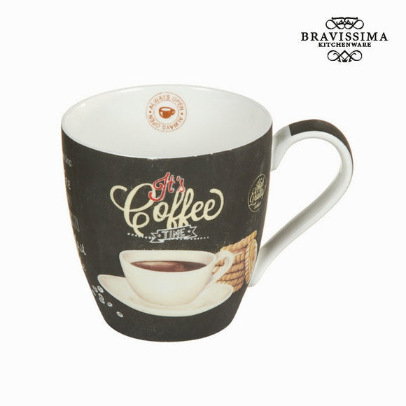 Bravissima Kitchen - Tasteful Black Coffee Mug - Egg n Chips London