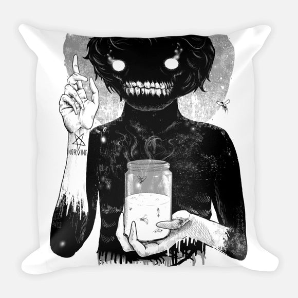 Creep Square Pillow with stuffing
