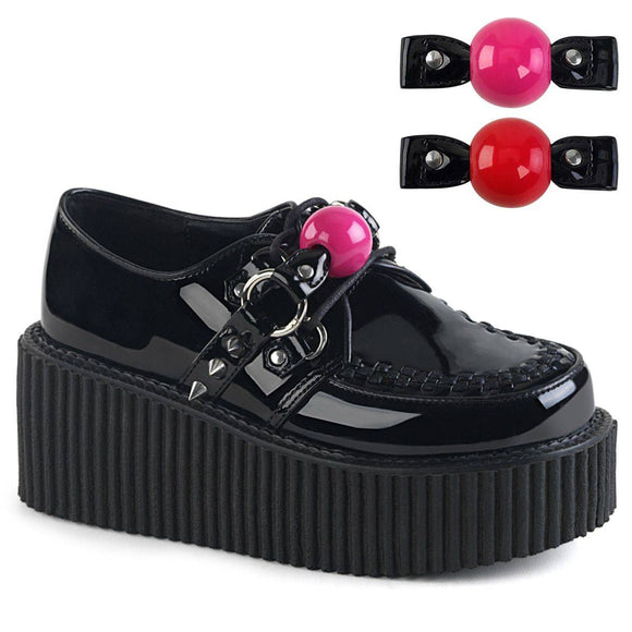 Demonia - Women's Oxford Creeper With Ball Gag