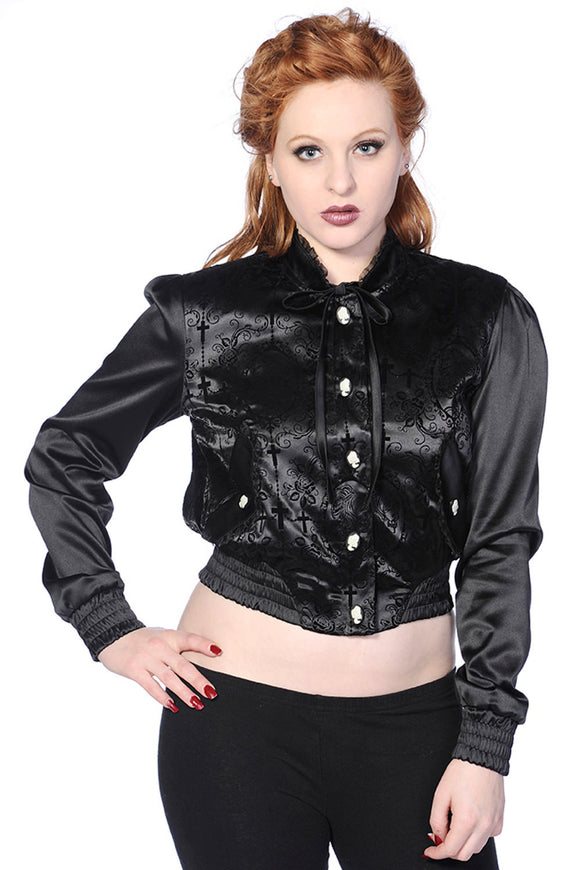 Banned Apparel - Cross Cameo Black Short Jacket - Egg n Chips London