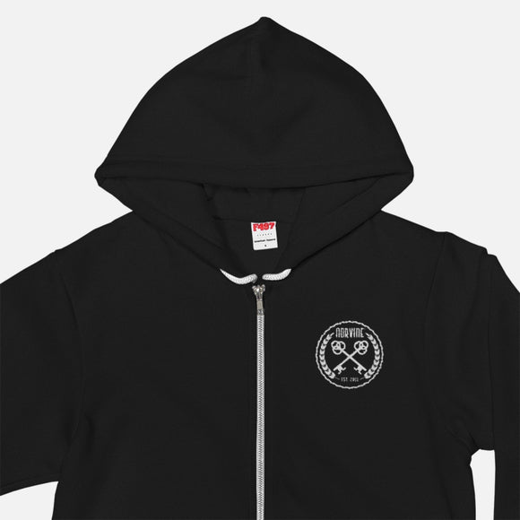 Crossed Keys Embroidered Hoodie