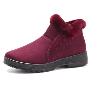 Cotton Shoes Slip On Casual Winter Faux Fur Lining Ankle Boots