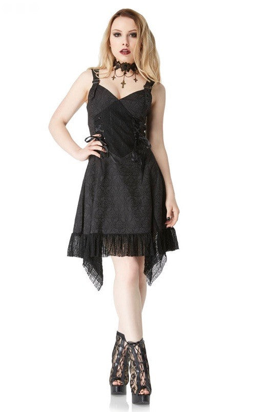 Jawbreaker Clothing - Stunning Gothic Darkest Night Dress - Egg n Chips London