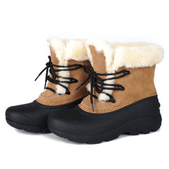 LOSTISY Waterproof Outdoor Walking Casual Warm Snow Boots