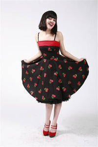 Dead Threads - Cherry Print Strappy Dress - Egg n Chips London