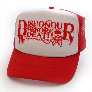 Toxico Clothing - Unisex Dishonour Before Death Trucker Hat - Egg n Chips London