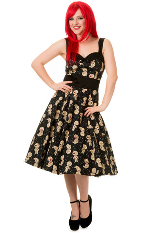 Banned Apparel - Distractions Voodoo Doll Halterneck Dress
