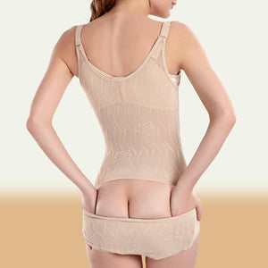 Sexy Jacquard Waist Control Push Up Back Take Off Type Shapewear