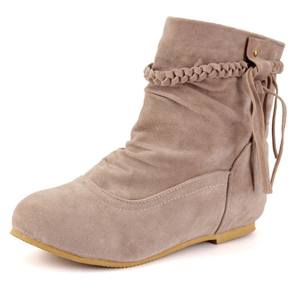 Casual Tassels Ankle Boots Increased Within Suede Boots