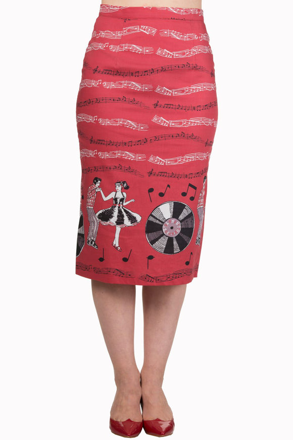Banned Apparel - Empower Pencil Skirt - Egg n Chips London